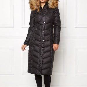 ROCKANDBLUE Tube coat sarong Jacket Black