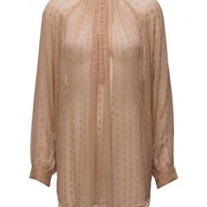 Rabens Saloner Gold Dot Shirt pitkähihainen pusero