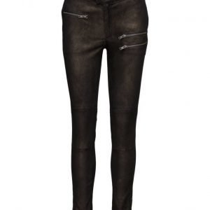 Rabens Saloner Gold Leather Pants