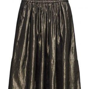 Rabens Saloner Golden Gathered Skirt mekko