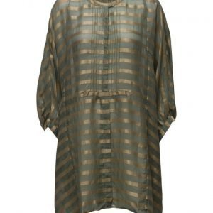 Rabens Saloner Metallic Stripe Shirt Dress tunikka