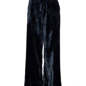 Rabens Saloner Velvet Wide Pants leveälahkeiset housut