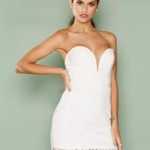 Rare London Sweetheart Mini Dress Kotelomekko White