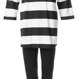 Ratia Aida Dora Pyjama Musta Valkoinen