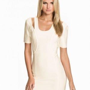 Rebecca Stella For Nelly Bandage Dress Kotelomekko Valkoinen