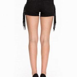 Rebecca Stella For Nelly Fringes Black Shorts