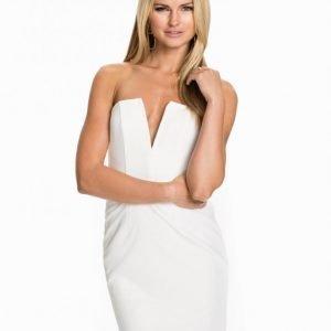 Rebecca Stella For Nelly V-Chest Dress Kotelomekko Valkoinen