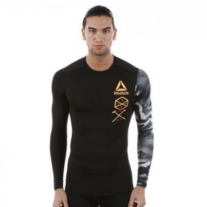 Reebok Crossfit Active Chl Graphic Compression Treenipaita Musta
