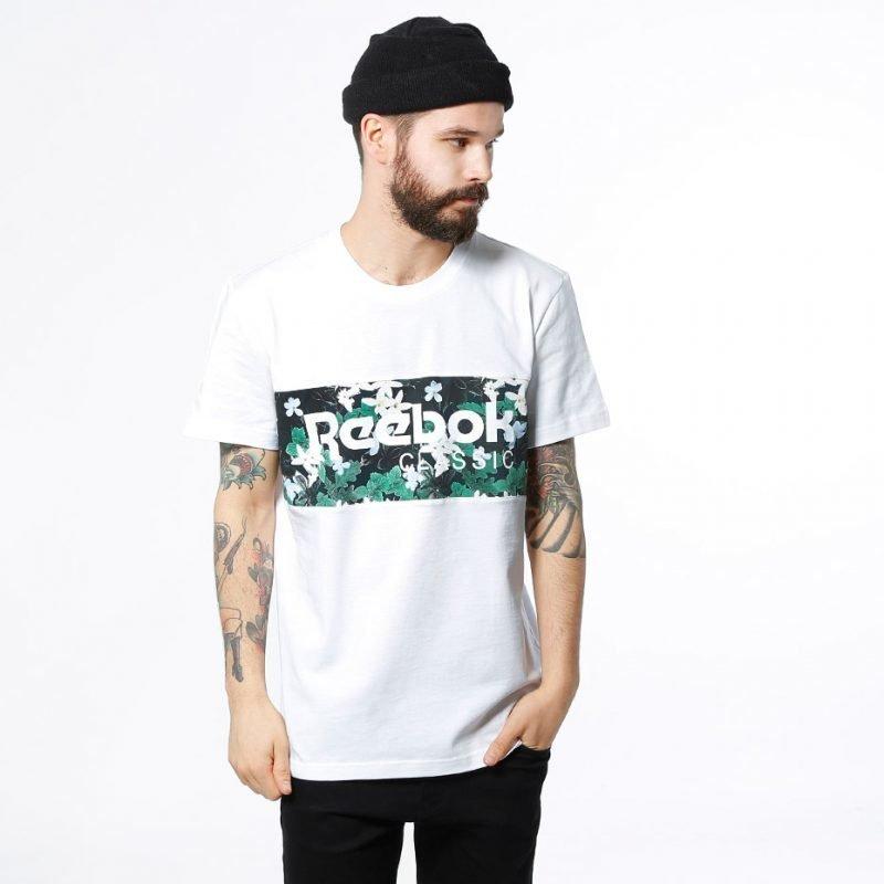 Reebok F Archive Stripe -t-paita