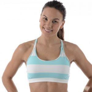 Reebok Yoga Striped Short Bra Urheiluliivit Sininen / Valkoinen