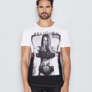 Religion Fighting club Tee White
