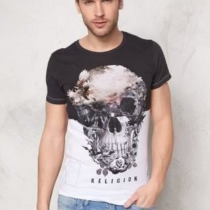 Religon Skull Illusion SS Tee White
