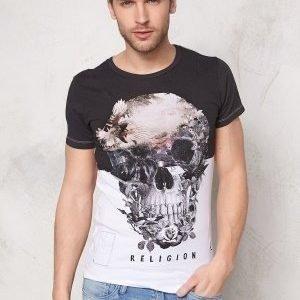 Religon Skull Illusion SS Tee White