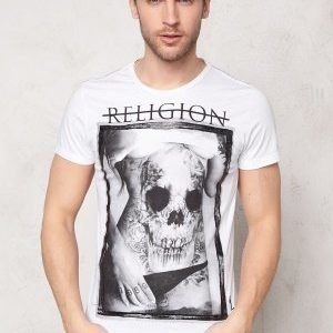 Religon Skully Belly SS Tee White