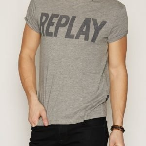 Replay M3261 T-paita Grey Melange