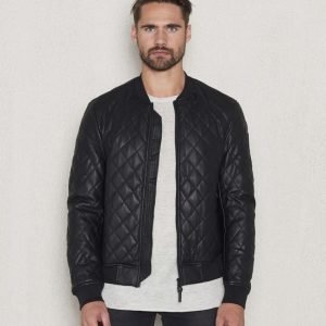 Replay Quilted Bomber Black