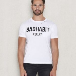 Replay RBJ Badhabit Tee White