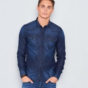 Replay RBJ Denim Shirt Denim Blue