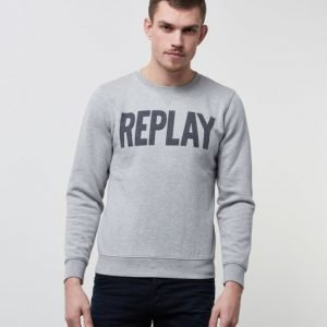 Replay RBJ Printed Sweat Grey