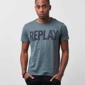 Replay RBJ Printed Tee Green