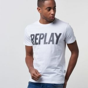 Replay RBJ Printed Tee White