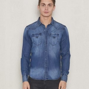 Replay RPL Denim Shirt Blue