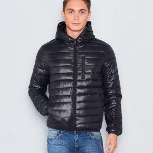 Replay RPL Duckfree Hooded Reverseble Jacket Black
