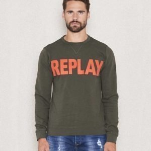 Replay RPL Logo Sweat Green
