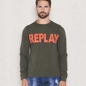 Replay RPL Logo Sweat Green