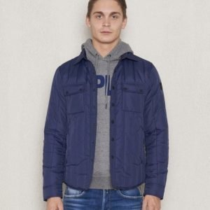 Replay RPL Quilted Jacket Navy
