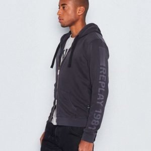 Replay RPL Zip Printed Hood Navy