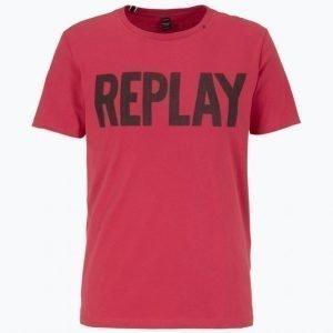 Replay Replay T-Paita Jossa Painatus