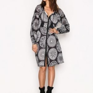 Replay W9334 000 71242 Dress Loose Fit Mekko Black / White