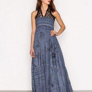 Replay W9375 000 71172 Dress Maksimekko Blue / Black