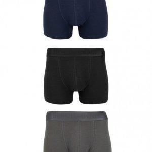 Resteröds 3-Pack Gunnar Bamboo Boxer Bokserit Black/Grey/Blue