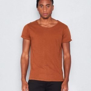 Resteröds Jimmy Linen Tee Brown