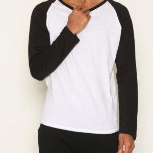 Resteröds Original Baseball Loungewear Valkoinen/musta