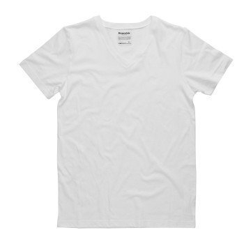 Resteröds Original V-Neck Tee White