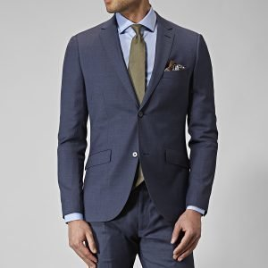 Riley Stanton Wool Stretch Puvuntakki Sininen
