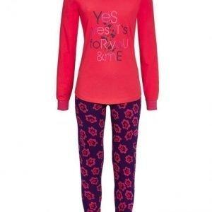 Ringella Pyjama Koralli / Laivastonsininen / Pinkki
