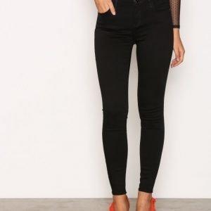 River Island Amelie Super Skinny Jeans Farkut Black