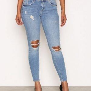 River Island Amelie Super Skinny Jeans Farkut Mid Blue