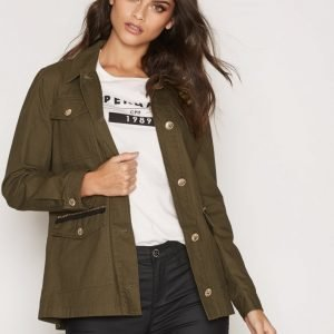 River Island Badged Army Jacket Parkatakki Khaki