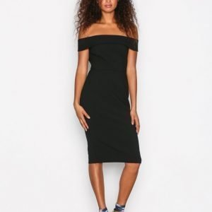River Island Bardot Bodycon Dress Kotelomekko Black