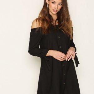 River Island Bardot Dress Loose Fit Mekko Black
