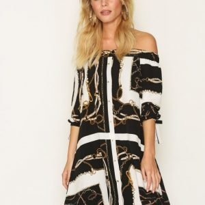 River Island Bardot Print Dress Loose Fit Mekko Print