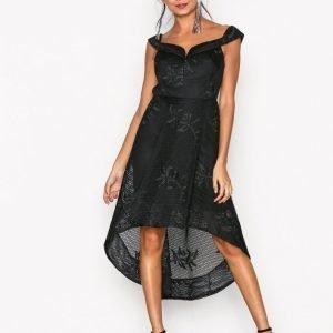 River Island Bardot Waisted Dress Kotelomekko Black