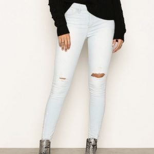 River Island Bleach Distressed Molly Jeggings Skinny Farkut Light Authenic