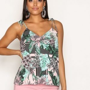 River Island Bow Shoulder Cami Top Toppi Green