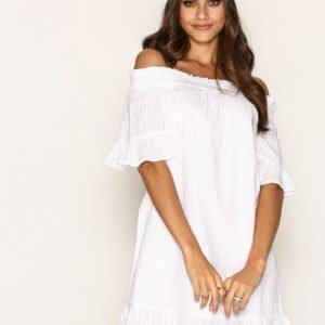 River Island Briana Swing Dress Loose Fit Mekko White